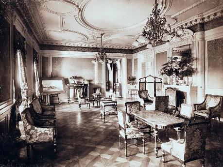 小川一眞「片山東熊設計/竹田宮邸 階下大客室」1911年ごろ