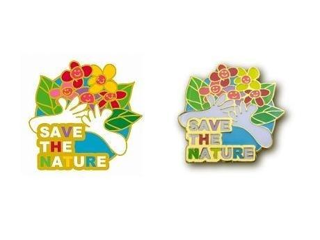 第4回の大賞作品「SAVE THE NATURE. I LOVE FLOWERS.」。「自然環境を守ろう」というテーマがよく表現できていることから大賞に選ばれた。