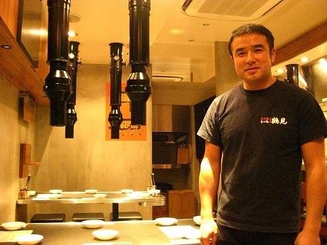 「もつ処 鶴見」代表の鶴見さんはグループ店「焼肉ジャンボ白金」の立ち上げメンバー
