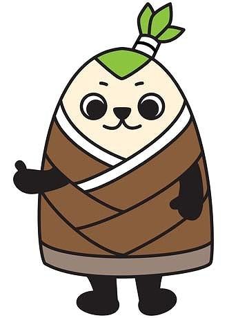 武蔵小山のキャラクター「たけ丸」。正義感が強くて、剣道が得意だが、居合い切りにトラウマがあって真剣恐怖症