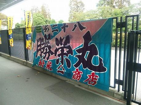 東京シティ競馬に飾られる大漁旗