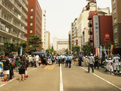 イベントが開催された大井町駅前中央通り