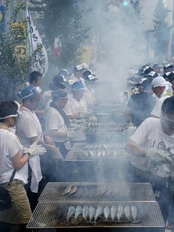 「目黒のさんま祭り」昨年の様子