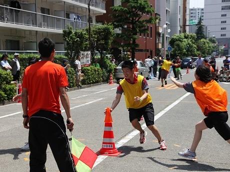 2012年5月20日に行われた「スポーツ鬼ごっこ体験会」の様子