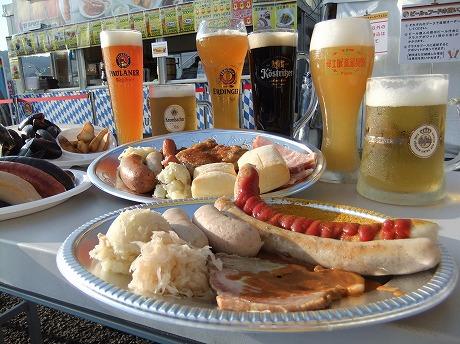 ドイツ料理とビール。画像提供/東京シティ競馬