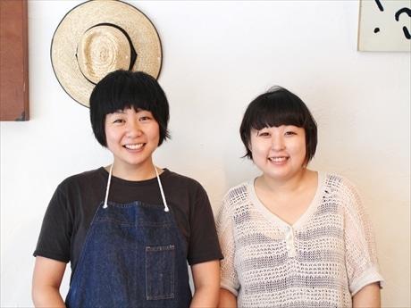 店主の小助川さん(左)と田尻さん