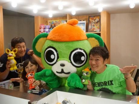 (左から)中谷一博さん、林りんこさん、大崎一番太郎、山口勝平さん