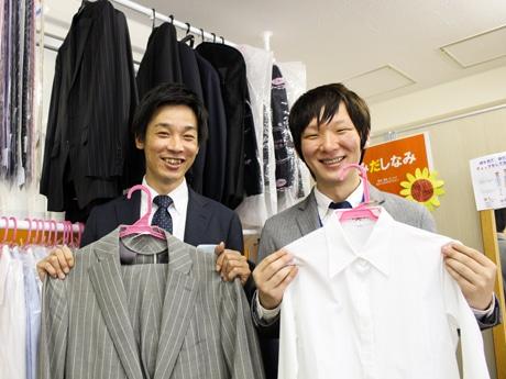 同社代表の松田一樹さん(左)と同所管理者の石橋啓一さん(右)
