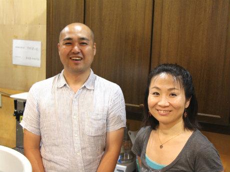 オーナーの狩野健太郎さんと店長の伊藤まゆみさん