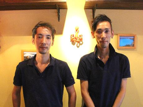 オーナーシェフの石田裕輔さん(左)と店長の和徳さん兄弟