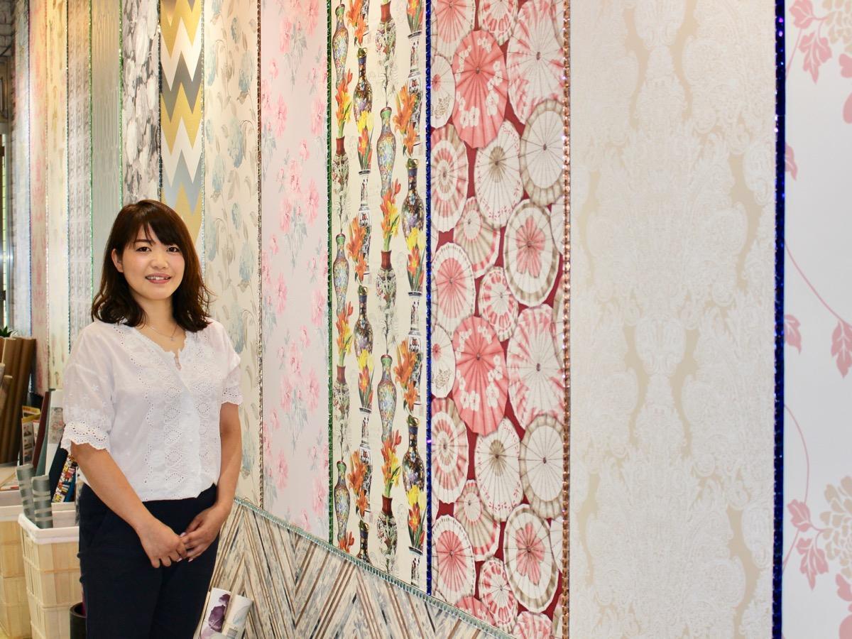 武蔵小山駅近くにインテリアショップ あんの木 オリジナル壁紙を