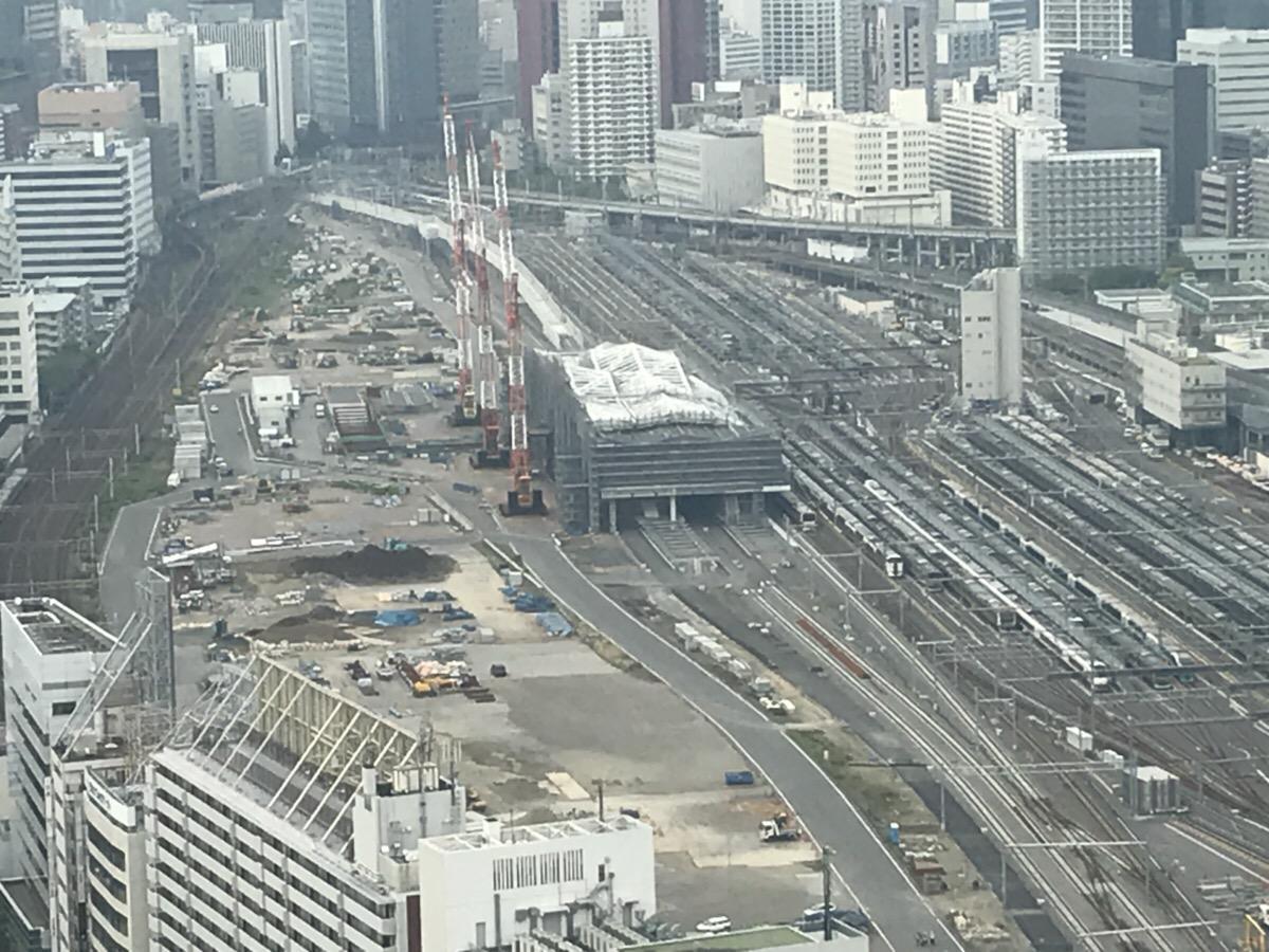 建設中の高輪ゲートウェイ駅(2018年5月撮影)