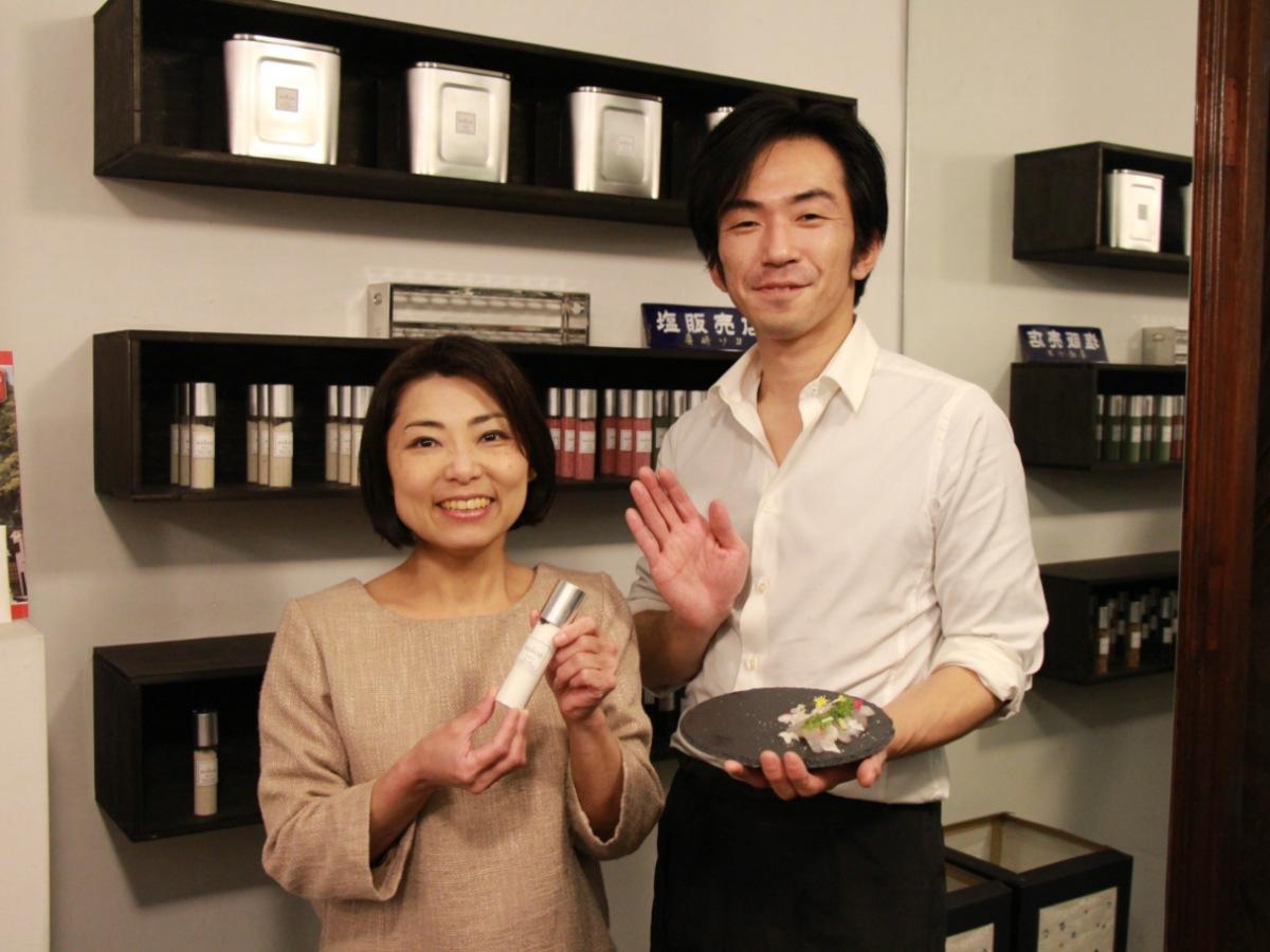 solco店主の田中園子さんと料理長の山田忠平さん