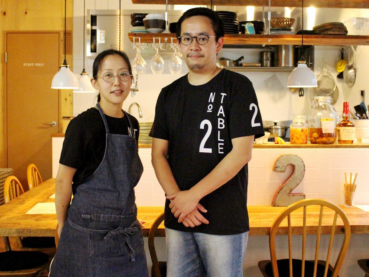 神瀬泰二・由美子ご夫婦で切り盛りする「TABLE NO2」
