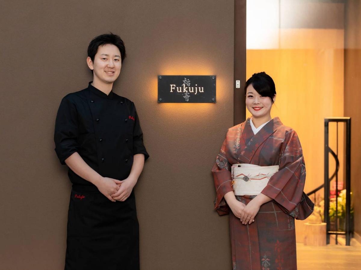 オーナーの福壽涼乃さん、夫でシェフの拓也さん夫妻