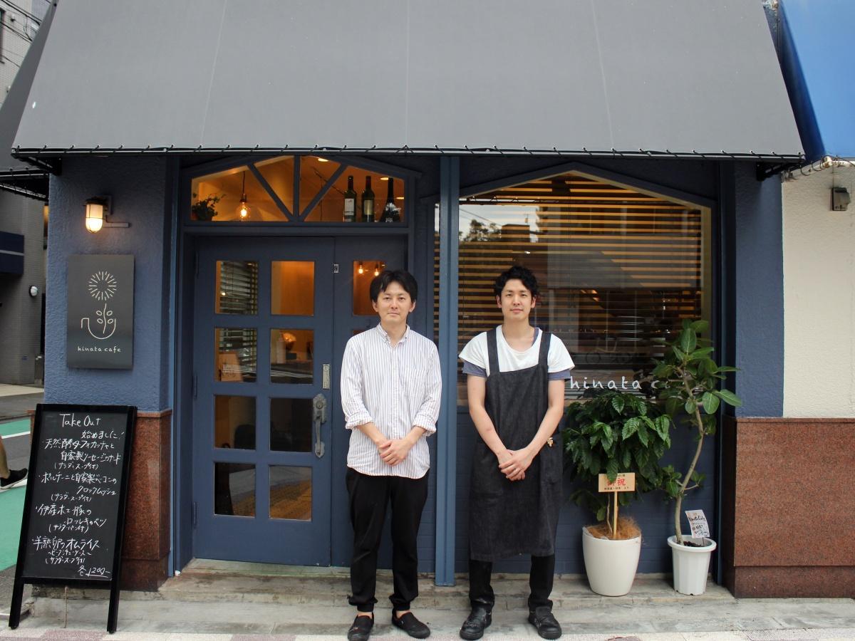 店長の星雅人さん(右)と「ビストロ八木商店」オーナーの八木隆文さん