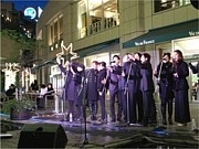 汐留でクリスマスゴスペルコンサート―公共地下歩道で新たに開催も