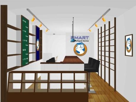 ニュー新橋ビル地下1階にオープンするスマホ専門修理店「SMART」イメージ
