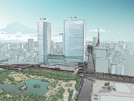 竣工後の都市再生特別地区のイメージ
