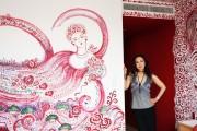 パークホテル東京で蜷川有紀展「薔薇の神曲」 客室を装飾した「天女の部屋」も