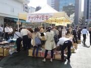新橋の桜田公園でチャリティー古本市 地元企業が協力し古本3千冊超
