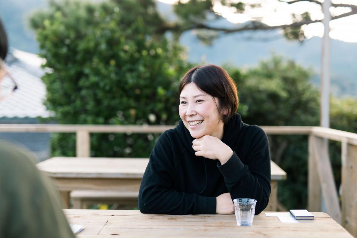 甑島の農産物、海産物を使った特産品開発を行う塩田亜耶子さん