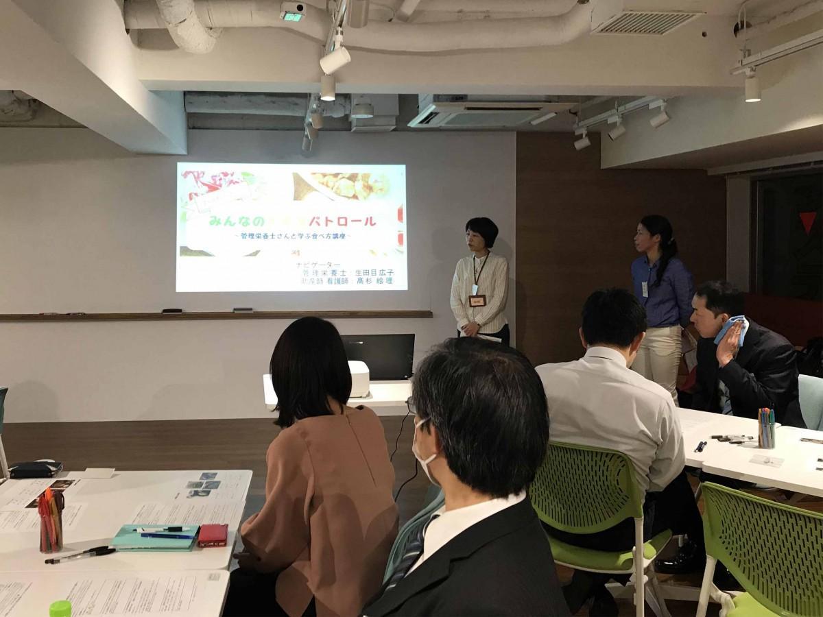 登壇する太刀川恭子さん(左)と生田目広子さん(右)