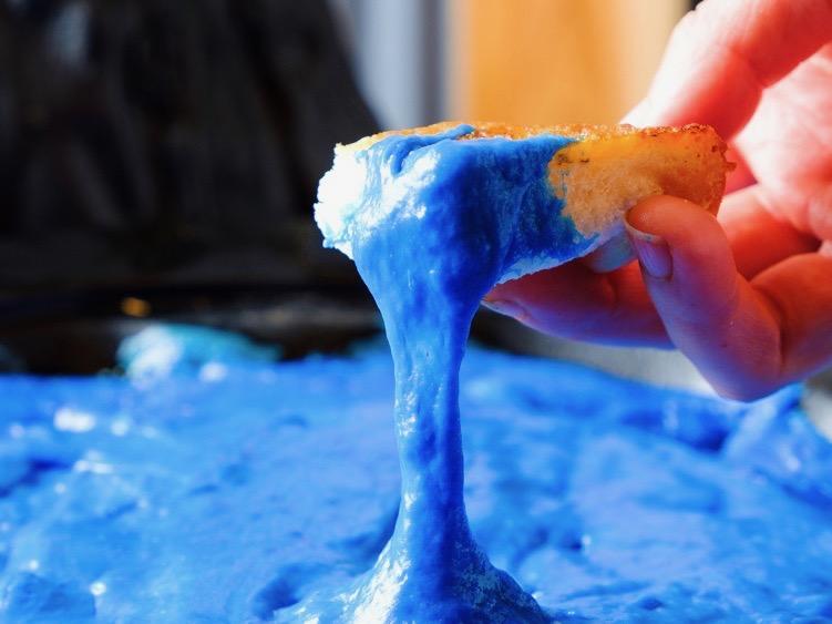「チーズ火山鍋 青のマグマ」