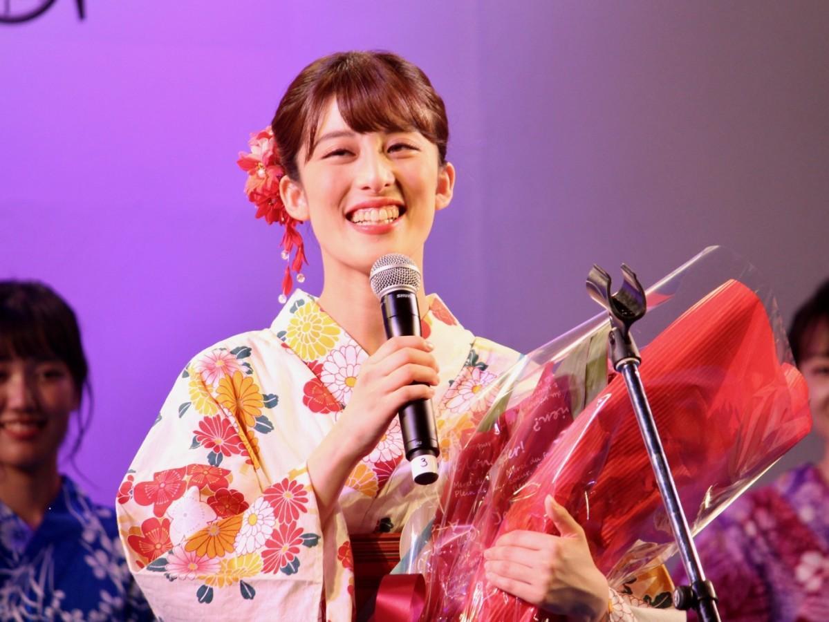 「ゆかた美人コンテスト」グランプリに輝いた吉田有沙さん