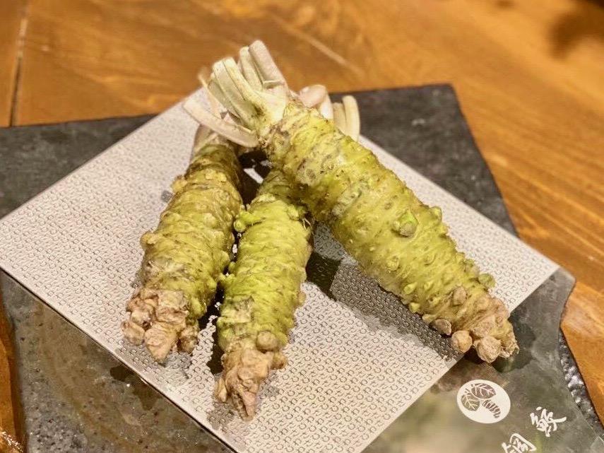 静岡県伊豆産のわさびを使う同店