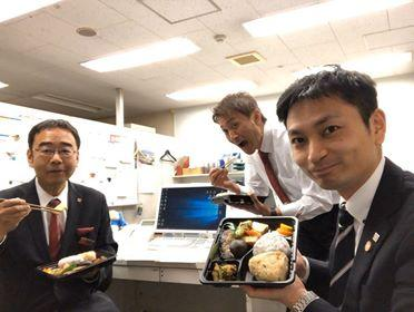 松元幸雄さんとホテルスタッフさん