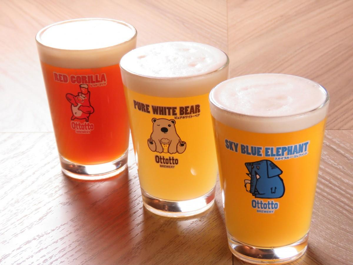 Ottotto Breweryが用意するリターンのクラフトビール3種飲み比べ