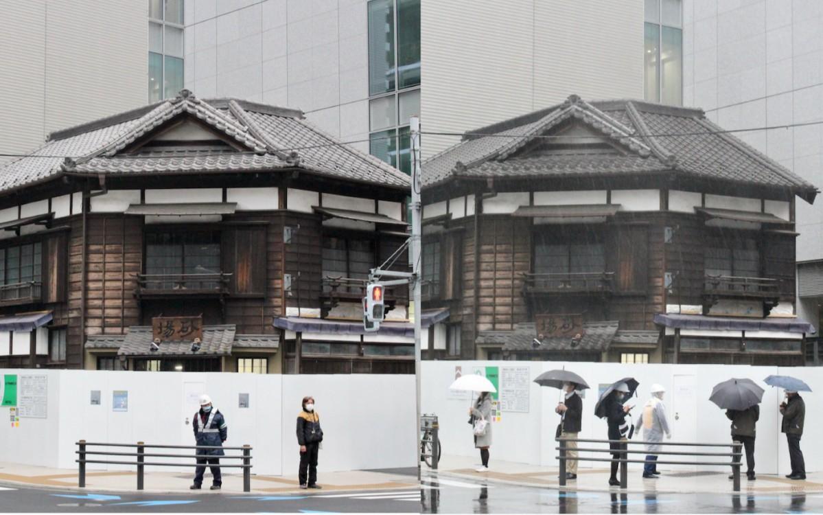 移動前(左)と移動後の店舗写真