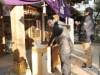 愛宕神社で一日限定、電子マネー「楽天エディ」でおさい銭
