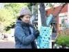 新虎通りでアートプロジェクト「ニットイルミネーション」 ニット約500キロ使い
