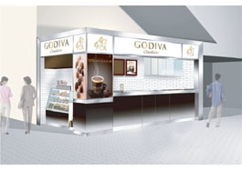 新宿にオープンしたゴディバ新業態1号店