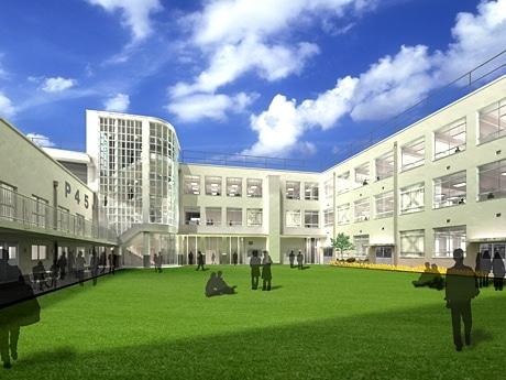 今年4月に完成予定の吉本興業新宿本社の完成予想図