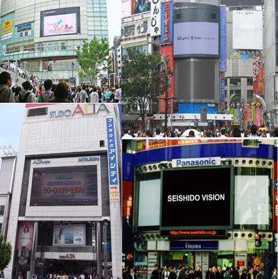 フラッグスビジョン、Mighty Vision渋谷、スタジオアルタ、誠志堂ビジョン