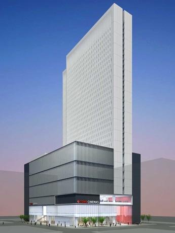 2015年春にオープン予定の「新宿東宝ビル」完成イメージ