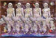 新宿3丁目のギャラリーで前衛芸術家・中井勝郎さんの個展
