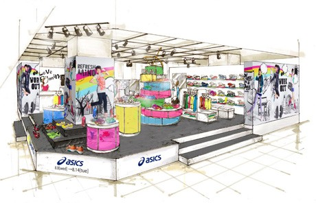 「ASICS STORE @ THE STAGE」の会場イメージ