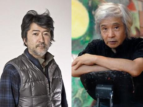 美術家の会田誠さん(写真左、撮影:松蔭浩之 Courtesy Mizuma Art Gallery)と、画家の佐々木豊さん