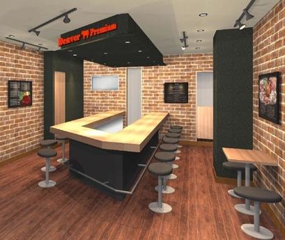 「アメリカンステーキハウス デンバープレミアム 西新宿店」の店内イメージ