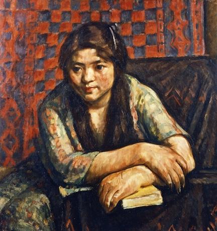 中村彝「小女」(1914年)