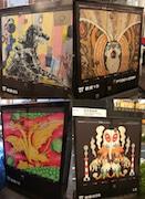 西武新宿駅前通りに「ゴジラ」アート登場-歩道のトランスボックスがキャンバス