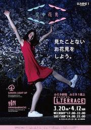 新宿ルミネで古着を使ったお花見イベント『空中花見』ー桜色に染め上げた服のツリーでお花見ー