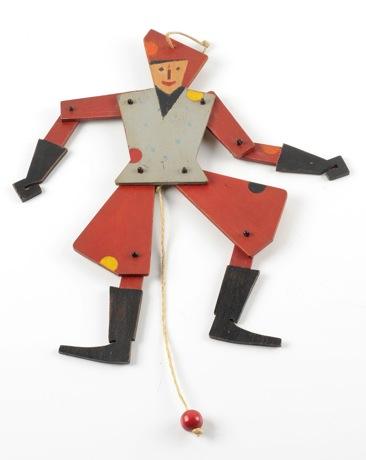 日本で初めて紹介されるADO(アド)の玩具シリーズより「ジャンピング・ジャック(操り人形)」