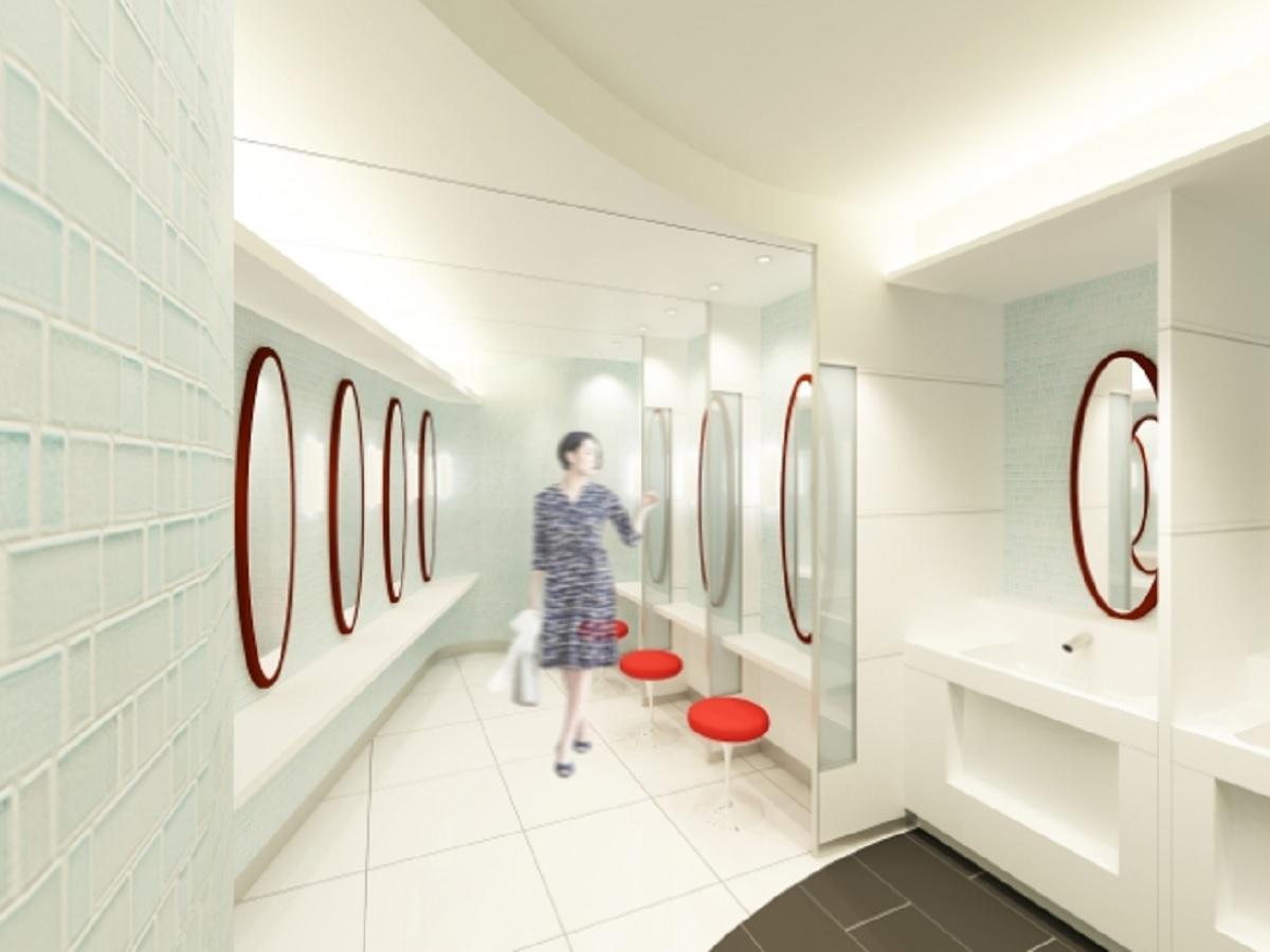 共用がはじまり、さっそく利用しやすさが話題になっている新宿駅西口地下改札内トイレ。