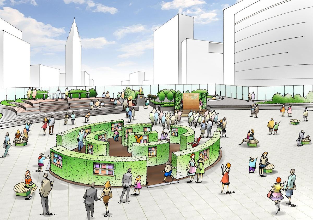 新宿「Suicaのペンギン広場」で開催予定の「新宿南GREEN LABYRINTH」(イメージ)