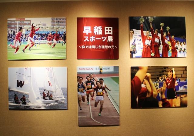早大早稲田キャンパス27号館地下1階のワセダギャラリーで「早稲田スポーツ展」